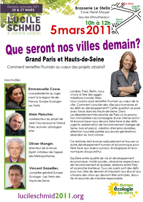 Issy-Est, Lucile Schmid invite Alain Fleischer, Olivier Mongin, Emmanuelle Cosse et Vincent Gazeilles